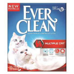 EVER CLEAN  Multiple Cat Scented Extra Strong Clumping Cat Litter 10l