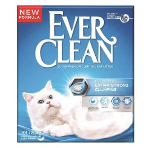 EVER CLEAN  Unscented Extra Strong Clumping Cat Litter 10l