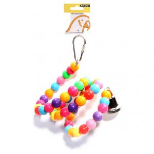 Avi One  Bird Toy Coloured Beads Twister Bell 67cm