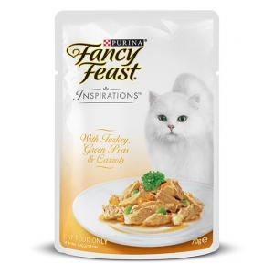 Fancy Feast  Inspirations Turkey Peas & Carrots - Pouched Cat Food - 70g