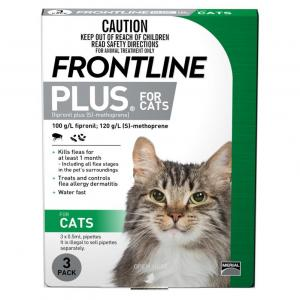 Frontline  Plus - Flea Treatment For Cats 3 pack