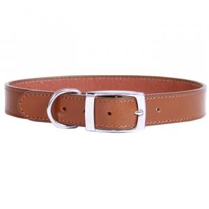 BEAU PETS Dog Collar Leather Deluxe Sewn Plain 50cm