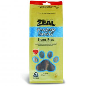 Zeal Free Range Naturals Spare Ribs Dog Treats 125G