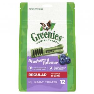 Greenies  Bluberry Dental Chews - Regular 340gm