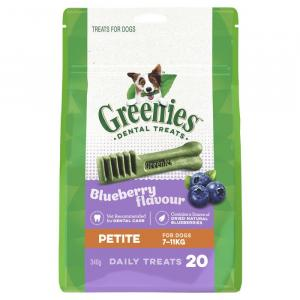 Greenies  Blueberry Dental Chews - Petite 340gm