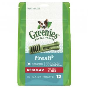 Greenies  Freshmint Dental Chews - Regular 340gm
