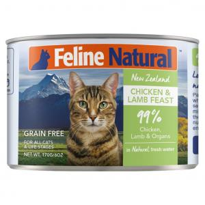 K9 Natural Feline Natural Grain Free Canned Cat Food - Chicken And Lamb 170g