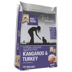 MEALS FOR MUTTS Meals For Meows Cat Kangaroo & Turkey 9kg