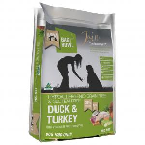 MEALS FOR MUTTS  Dry Dog Food Grain Free Duck & Turkey 9kg