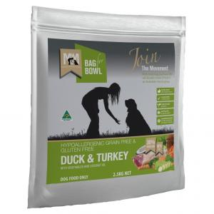 MEALS FOR MUTTS  Dry Dog Food Grain Free Duck & Turkey 2.5kg