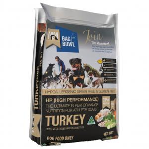 MEALS FOR MUTTS  Dog Hi Perform Grain Free Turkey With Chick Pea 9kg