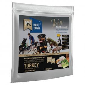 MEALS FOR MUTTS  Dog Hi Perform Grain Free Turkey With Chick Pea 2.5kg
