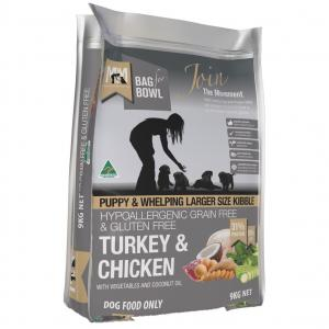 MEALS FOR MUTTS  Puppy Grain Free Turkey & Chicken Large Kibble 9kg