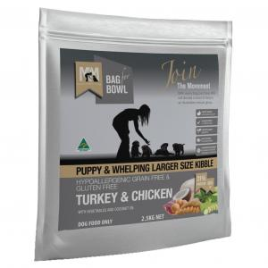Meals For Mutts Grain Free Large Kibble Puppy Turkey & Chicken Dry Dog Food