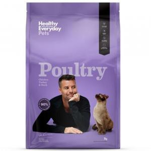 HEALTHY EVERYDAY PETS  Dry Cat Food Poultry 3kg