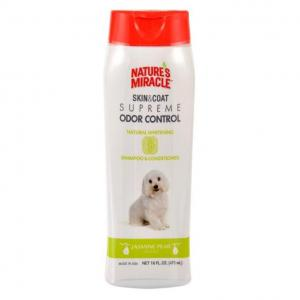 Natures Miracle Skin & Coat Supreme Odor Control Natural Whitening Dog Shampoo And Conditioner 473ml