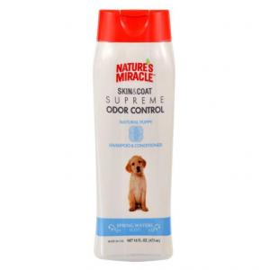 Natures Miracle Skin & Coat Supreme Odor Control Natural Puppy Shampoo And Conditioner 473ml