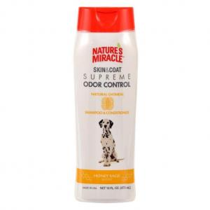 Natures Miracle Skin & Coat Supreme Odor Control Natural Oatmeal Shampoo & Conditioner 473ml