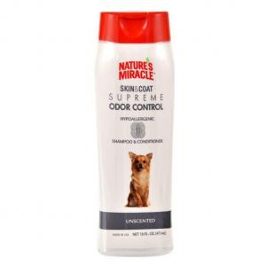 Natures Miracle Skin & Coat Supreme Odor Control Hypo-allergenic Unscented Dog Shampoo And Conditioner 473ml