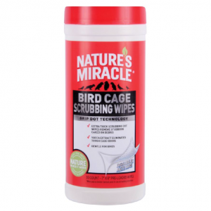 Natures Miracle  Bird Cage Scrubbing Wipes 30pk