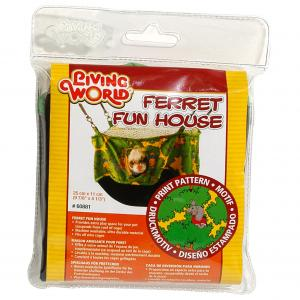 Living World  Ferret Fun House Green 25cm