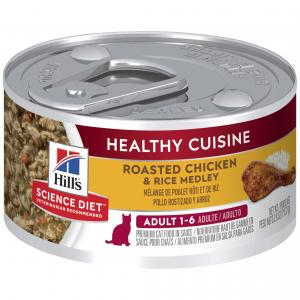 Hill's Science Diet  Adult Healthy Cuisine Chicken & Rice Medley Wet Cat Food - 79g