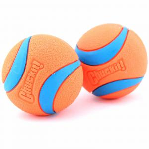 Chuckit Ultra Rubber Ball - Dog Toy - 2 Pack Small