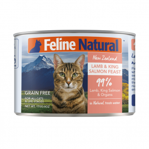 K9 Natural Feline Natural Grain Free Canned Cat Food - Lamb And Salmon 170g