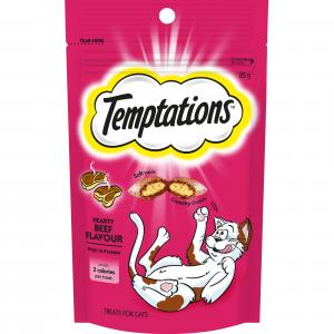 TEMPTATIONS  Hearty Beef Cat Treat 85g