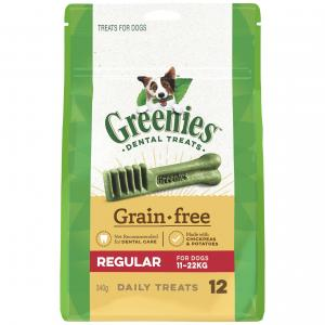Greenies  Grain Free Treat-pak Regular (340g)