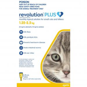 REVOLUTION PLUS  Kitten 1.25 - 2.5kg 3 Pack