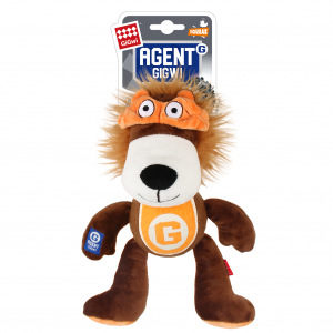 Gigwi Agent Gigwi Lion Plush And Tennis Ball With Squeaker