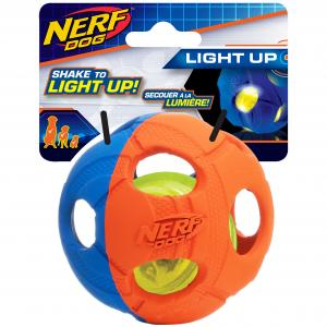 NERF  3.5in Led Bash Ball Blue/orange