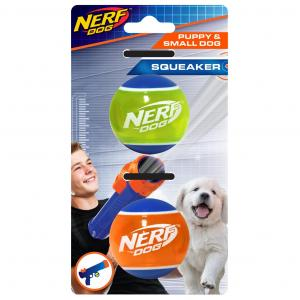 NERF  2in Tpr Squeak Tennis Ball 2pk