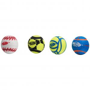NERF  2.5in Non Squeak Sports Ball 4pk