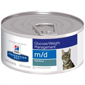 Hill's VET Hill's Prescription Diet M/d Glucose/weight Management Canned Cat Food - 156g