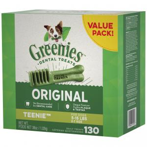 Greenies  Original Teenie Dog Dental Treat 130 Value Pack 1.02kg Box