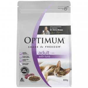 Optimum  Dry Cat Food Adult With Tuna 1+ Years 800g