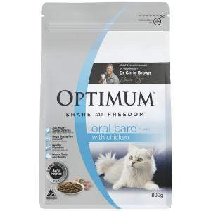 Optimum  Oral Care 1+ Years With Chicken Dry Cat Food 800g