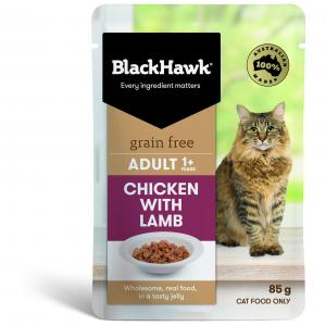 Black Hawk B/hwk Cat Chicken/lamb 85g