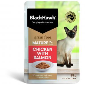Black Hawk B/hwk Cat Mature Chick/salmon 85g