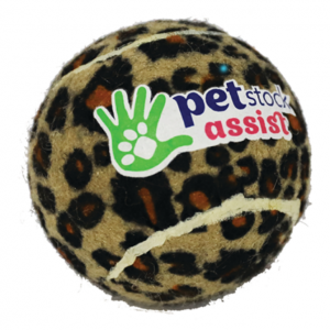 PETstock Assist Tennis Ball Leopard Print Medium