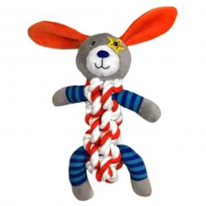 "Bark-a-boo Super Space Rope Twister 12"" Dog"