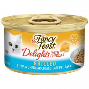 Fancy Feast  Delights With Cheddar Grilled Tuna & Cheddar Cheese Feast In Gravy 85g