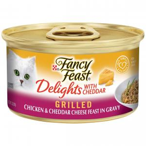 Fancy Feast  Delights With Cheddar Grilled Chicken & Cheddar Cheese Feast In Gravy 85g
