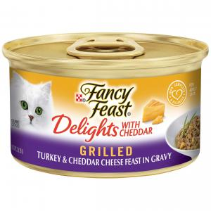 Fancy Feast  Delights With Cheddar Grilled Turkey & Cheddar Cheese Feast In Gravy 85g
