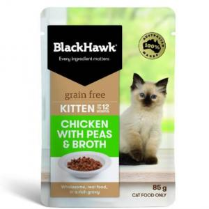 Black Hawk B/hwk Kitten Chick/peas/broth 85g