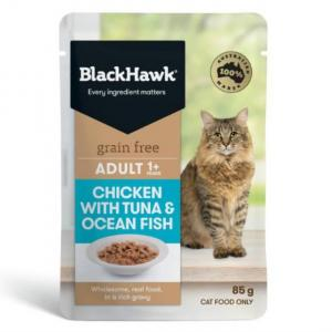 Black Hawk B/hwk Cat Chick/tuna/fish 85g