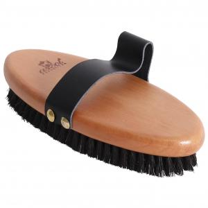 ASCOT Horse Hair Brush With Leather Strap