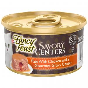 Fancy Feast  Savory Centers Pate With Chicken And A Gourmet Gravy Center 85g 85g